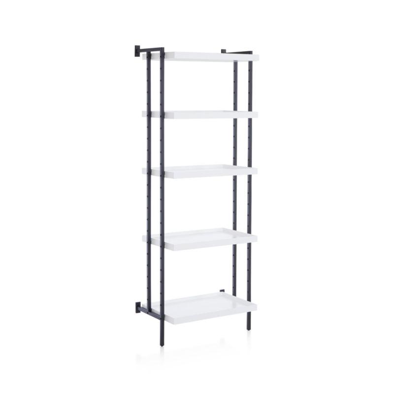 "Flex Modular 24"" 5-Shelf Half Bookcase"