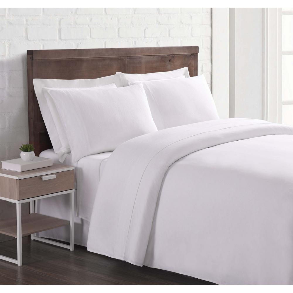 Nature Flax Linen White Queen Sheet Set Sheet Set
