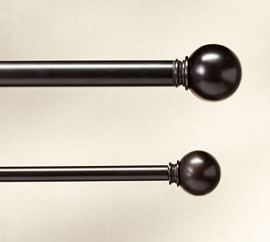 "PB Standard Ball Finial, Set of 2, .75"" diam., Antique Bronze Finish"