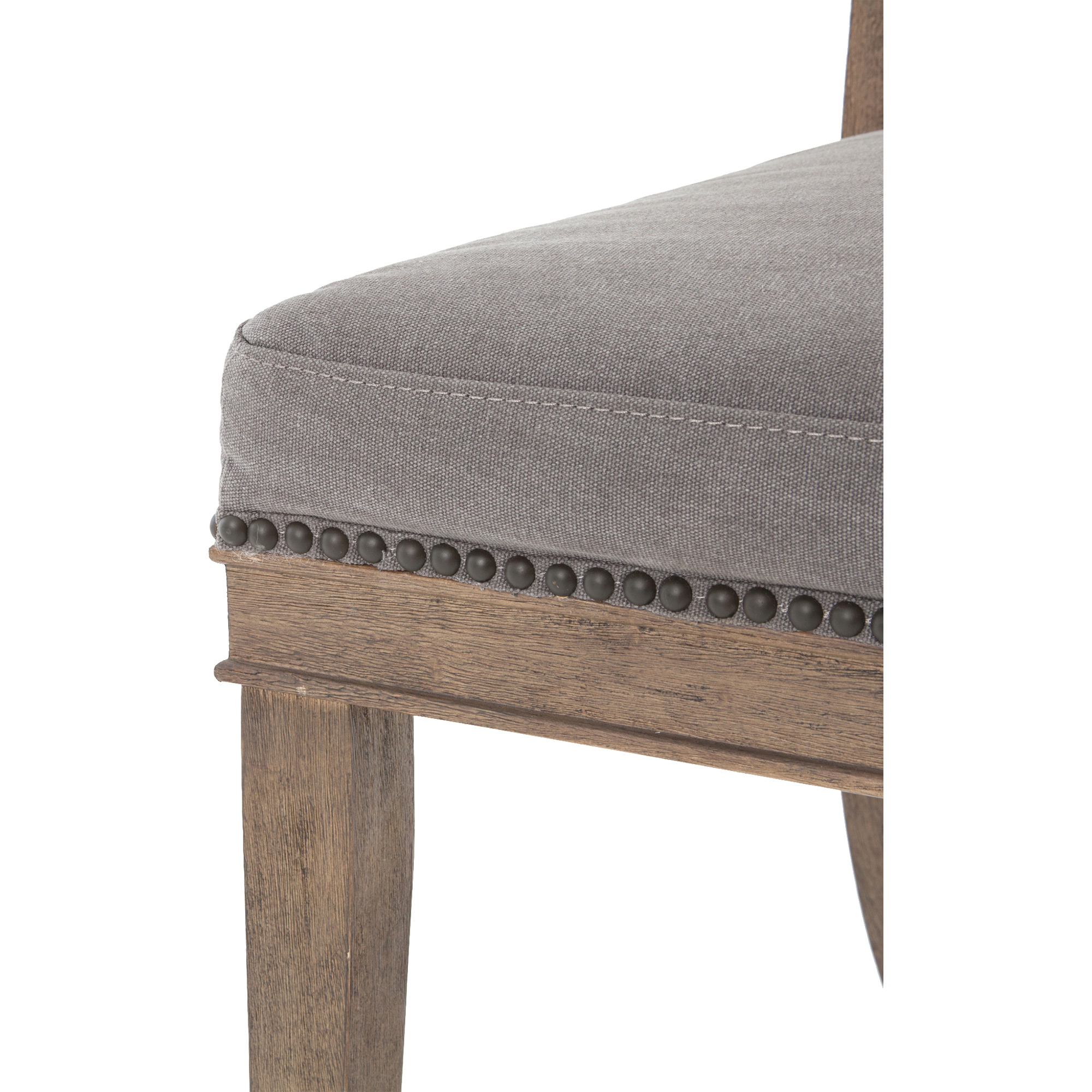 Livingston Modern Classic Curved Back Charcoal Grey Cotton Dining Chair