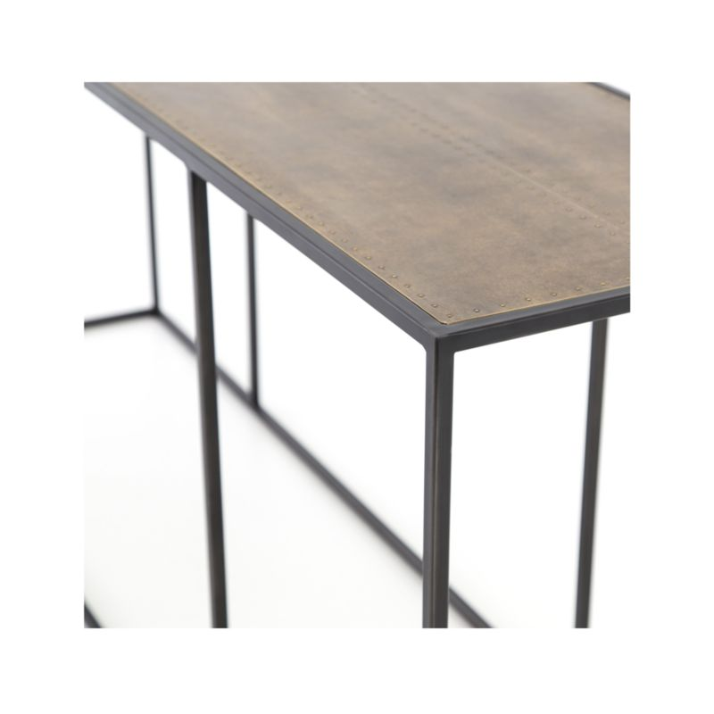 Phillip Brass Console Table