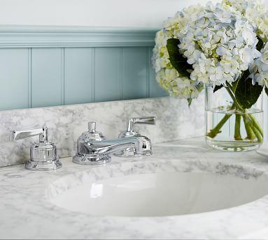 Covington Lever-Handle Widespread Bathroom Faucet, Antique Brass Finish