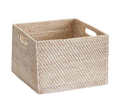 Tava Woven Utility Basket, Small, Whitewash