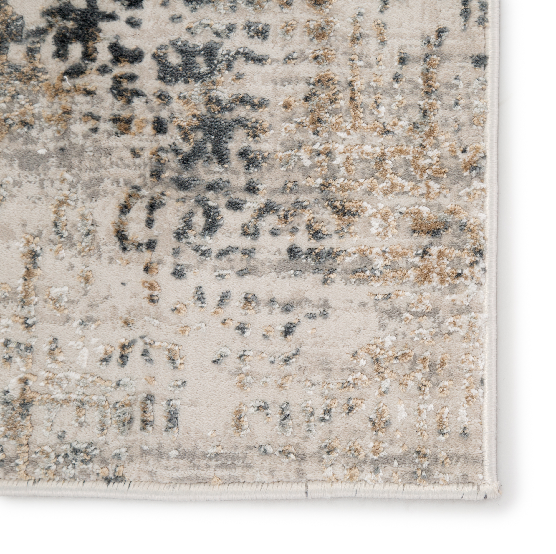 "CIQ22 - Cirque Eero Abstract Gray/ Ivory Area Rug (5X7'6"")"