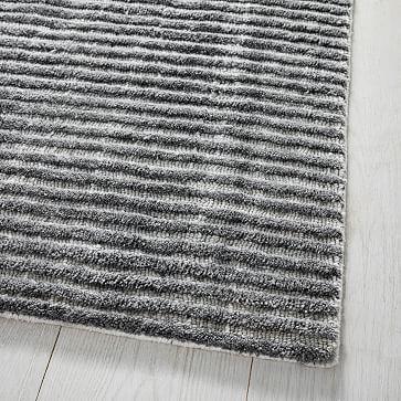 Terra Stripes Rug, Slate, 6'x9'