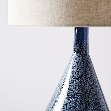 Asymmetry Ceramic Table Lamp, Large, Speckled Moss