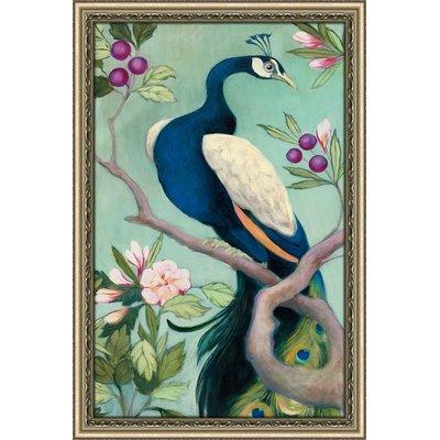 'Pretty Peacock I' Acrylic Painting Print