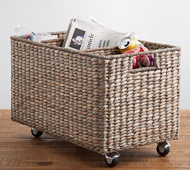 Charleston Handwoven Seagrass Sorting Basket - Gray