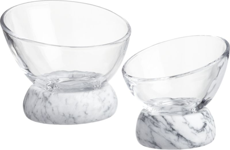 Askew Small Glass and Marble Bowl