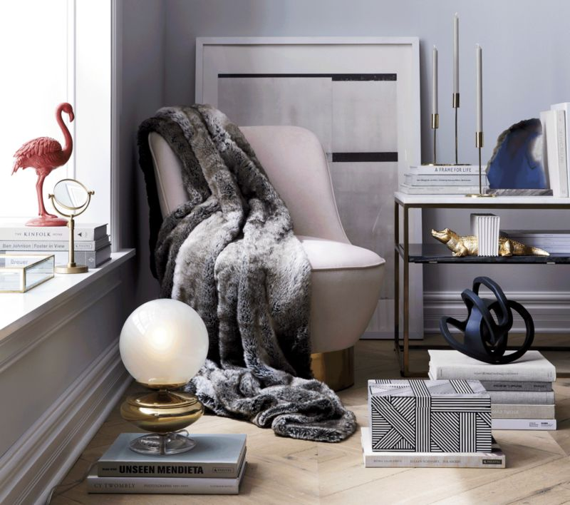 2 tone grey and white marble console