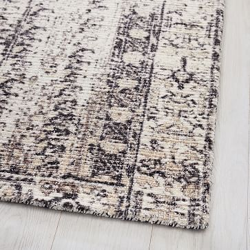 Distressed Ensi Rug, Stone White, 8'x10'