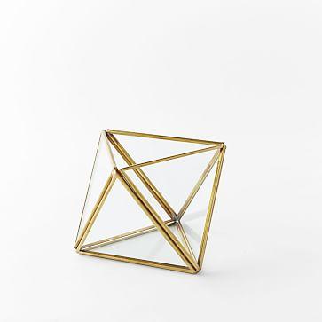 Faceted Terrarium, Small, Gold