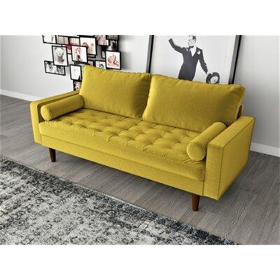 Womble Velvet 69 68 Square Arm Sofa Wayfair