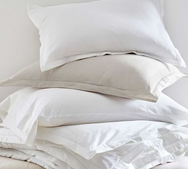 Spencer Washed Cotton Organic Sheet Set, Queen, White