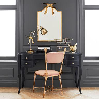 The Emily & Meritt Bow Mirror, Gold