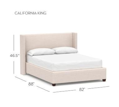 Elliot Shelter Upholstered Bed, King, Performance Everydayvelvet(TM) Smoke