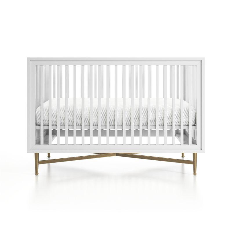 White Campaign Crib