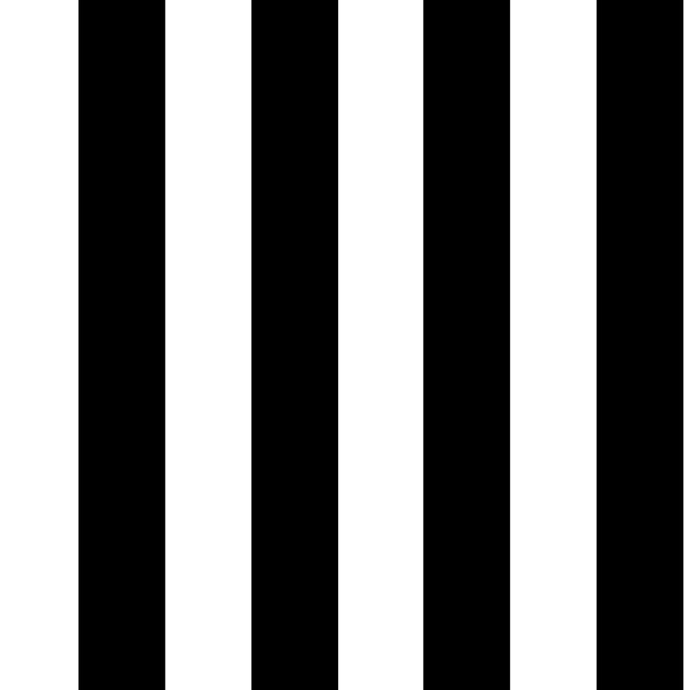 Black and White Monochrome Stripe Removable Wallpaper, Black/White