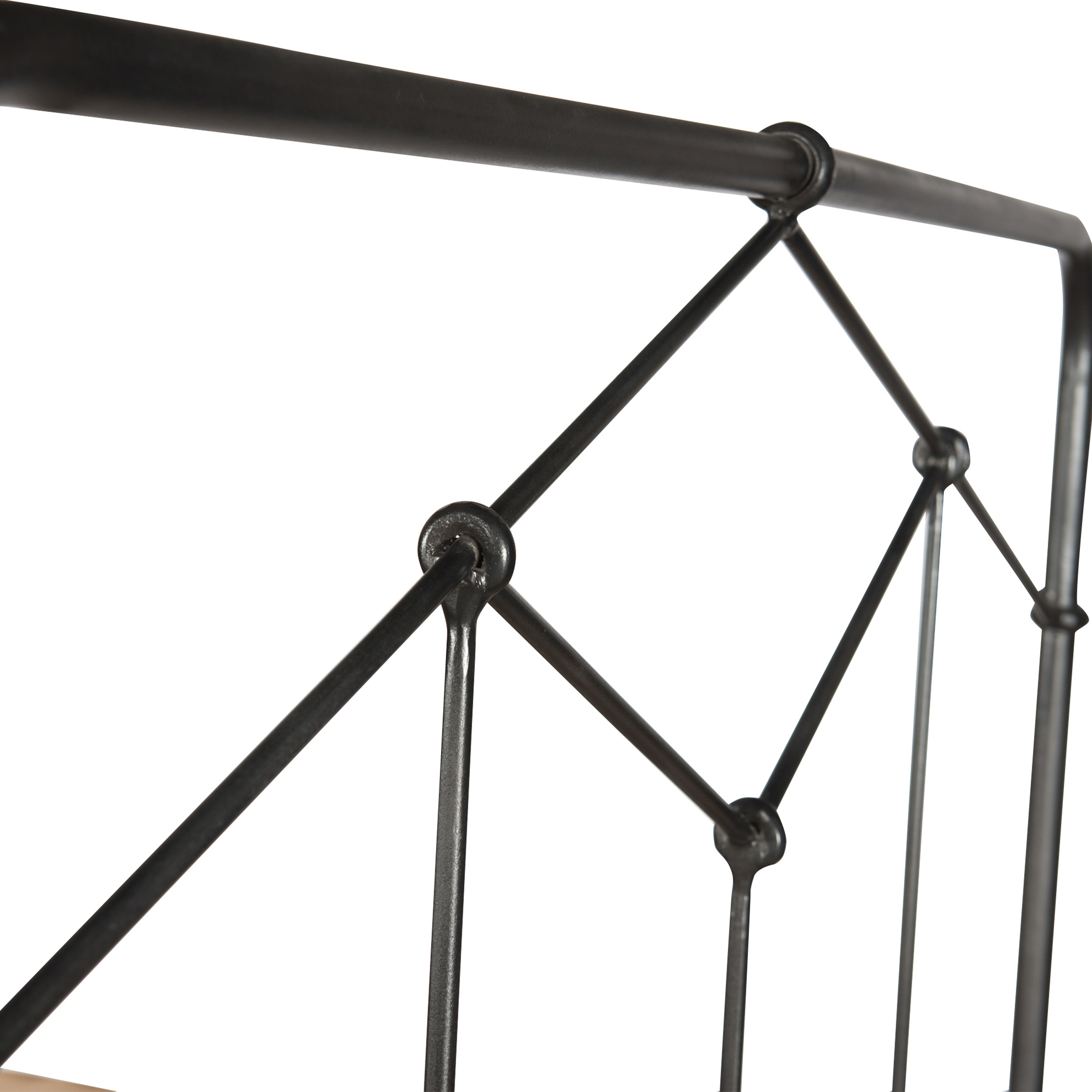 Saar Industrial Loft Black Geometric European Design Iron Bed - Queen