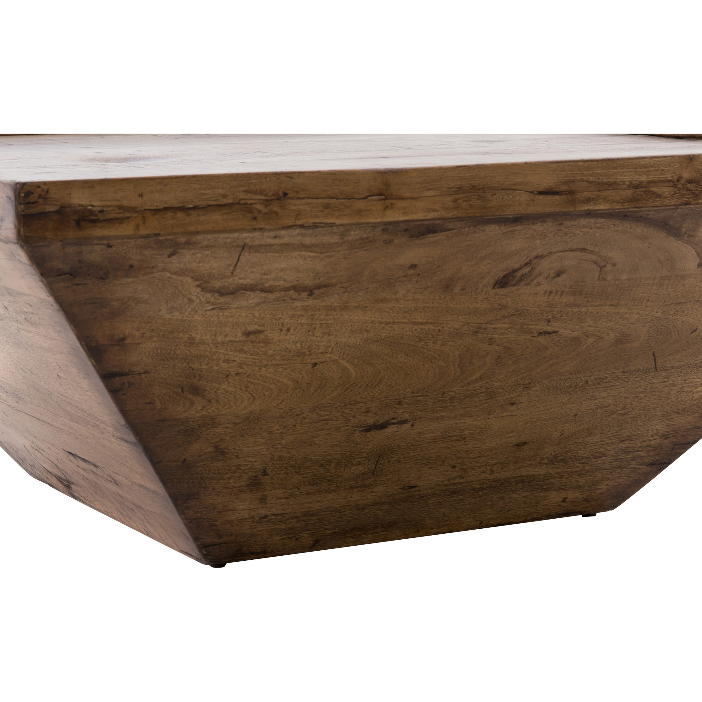 Eckard Rustic Lodge Geometric Reclaimed Wood Coffee Table