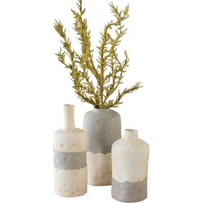 Ceramic Bottle 3 Piece Table Vase Set