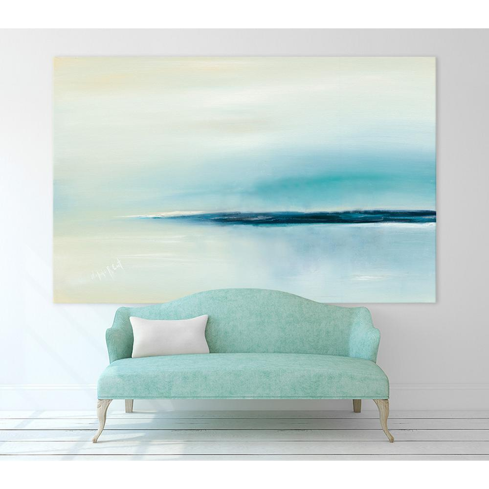 """54 in. x 84 in. """"Stillness"""" by Michele Gort Printed Framed Canvas Wall Art"""
