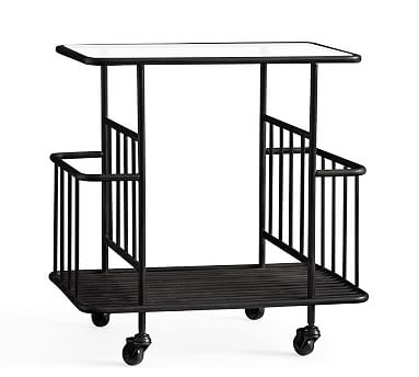 Preston Metal Cart, Bronze