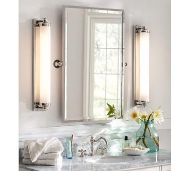 Kensington Pivot Mirror, Extra Large Rectangle, Matte Black
