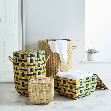 Round Weave Laundry Basket, Large, Natural