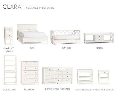 Clara Solid Headboard, Sky White, King