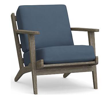 Raylan Occasional Chair Cushion, Sunbrella(R) Sapphire