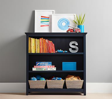 Cameron 3-Shelf Bookcase, Navy, Unlimited Flat Rate Delivery