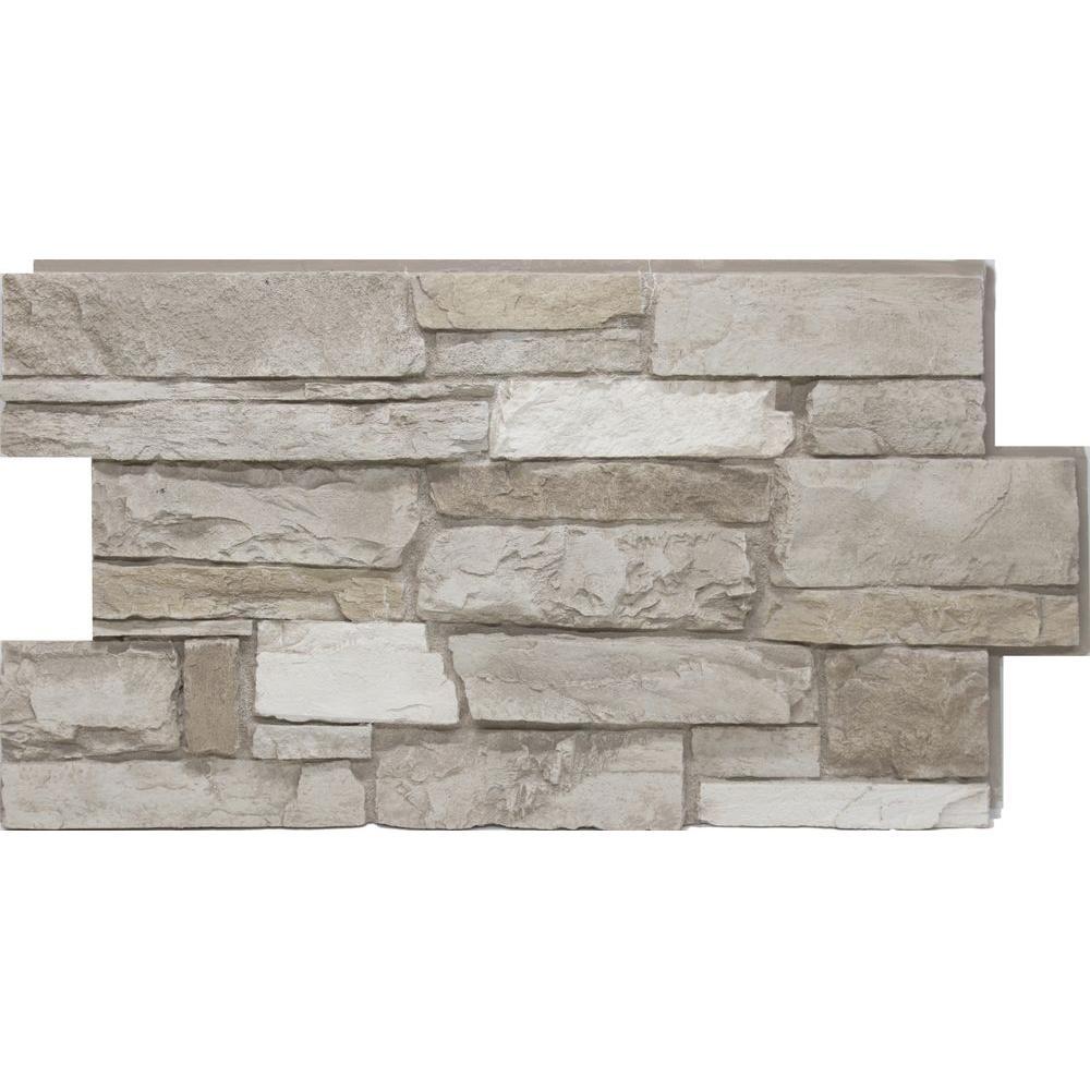Urestone 24 in. x 48 in. Ledgestone Almond Taupe Stone Veneer Panel
