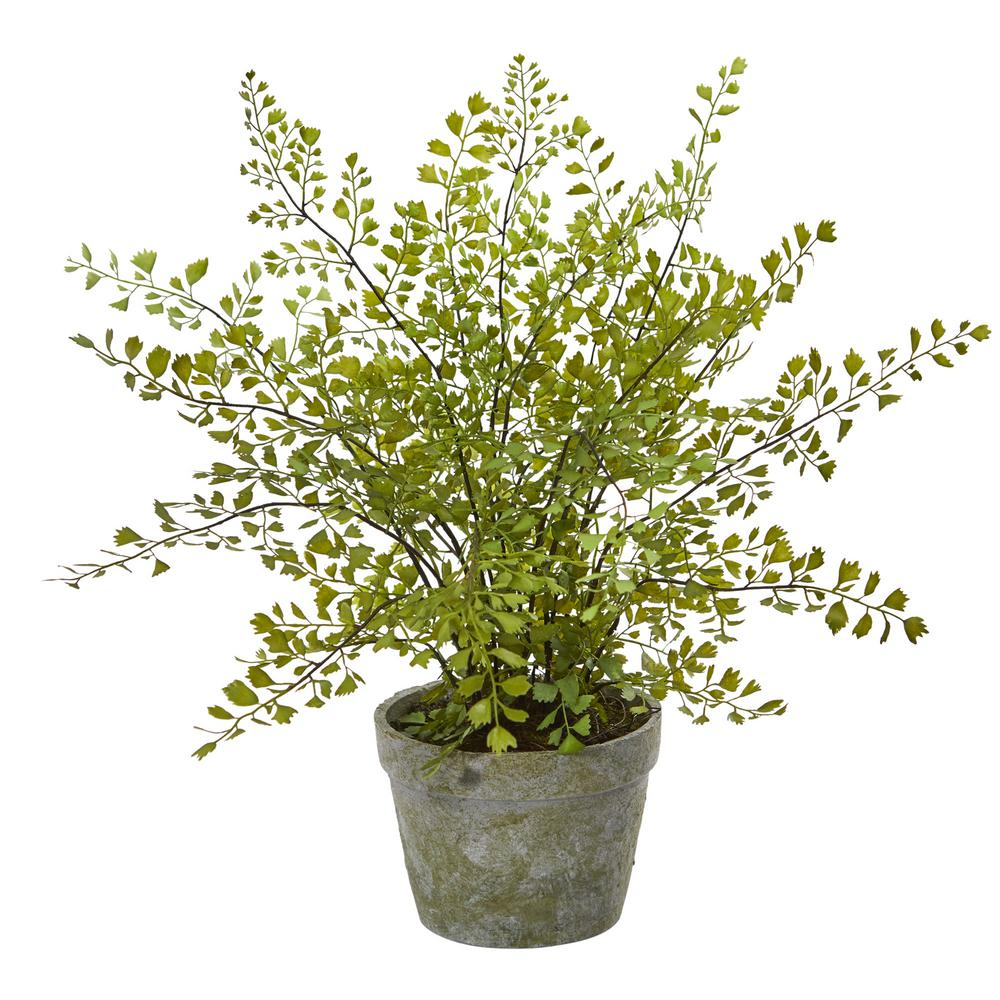 Indoor Maiden Hair Artificial Plant in Decorative Planter