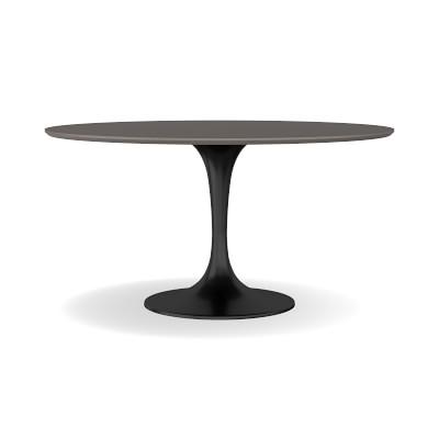 "Tulip Indoor/Outdoor Round Dining Table, 42"", Concrete Base, Grey Top"