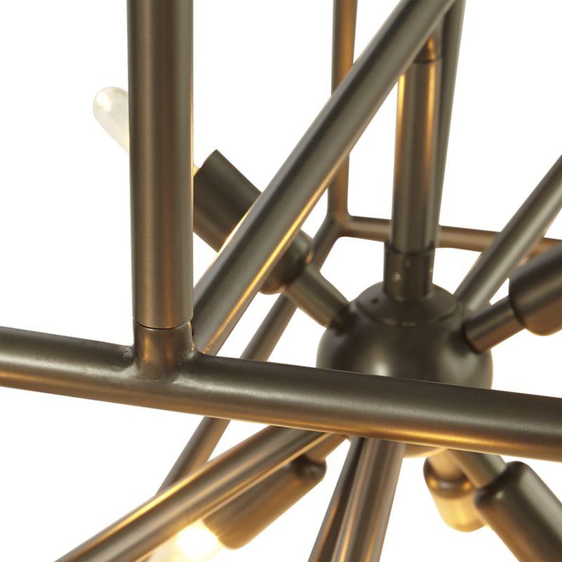 Jaxon Dark Brass Caged Starburst Chandelier