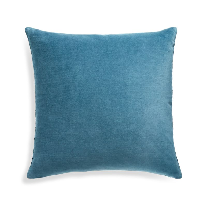 """Trevino Teal Pillow Cover 20"""" Feather-Down Insert"""