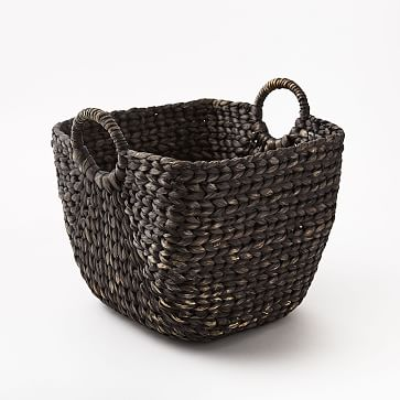 Large Curved Basket, Blackwashed