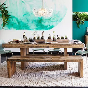 "Emmerson Dining Bench 58"", Chestnut Pine"