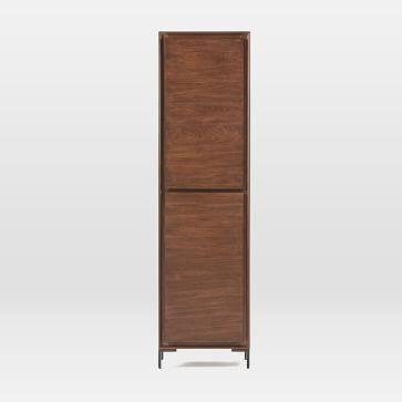 Nolan Collection Dark Walnut/Antique Bronze Closed Cabinet