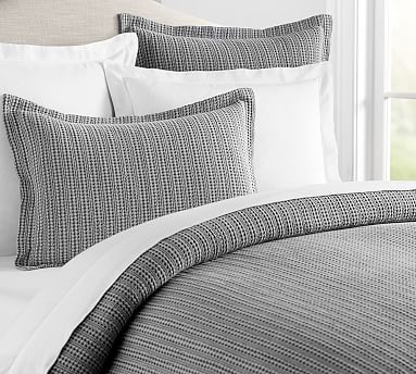 Honeycomb Duvet Cover, King/Cal. King, Gray
