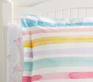 Kayla Rainbow Stripe Duvet Cover, Full/Queen,