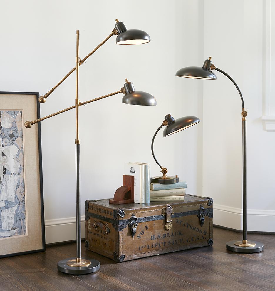 BRUNO DOUBLE-ARM FLOOR LAMP
