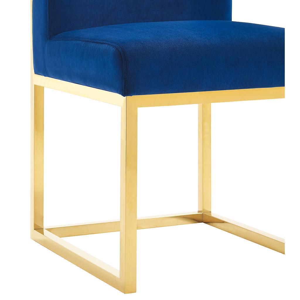 Henderson Navy Velvet Chair