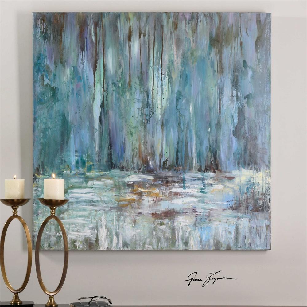 Blue Waterfall - Unframed, No Mat