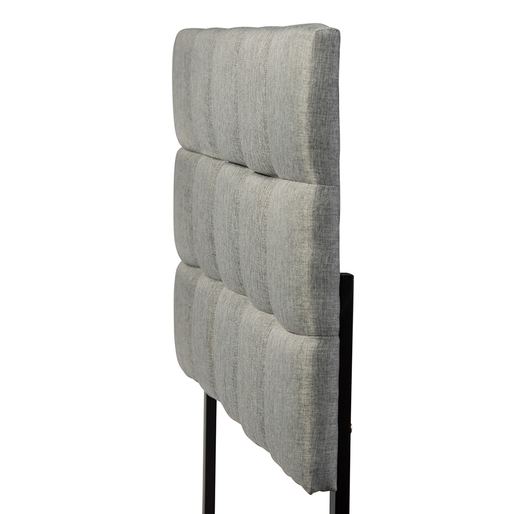 BAXTON STUDIO BORDEAUX MODERN AND CONTEMPORARY GREY FABRIC QUEEN SIZE HEADBOARD