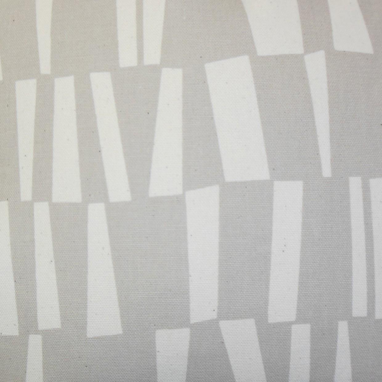 "Iker Geometric Pillow Gray - 18"" x 18"" - Down Insert"