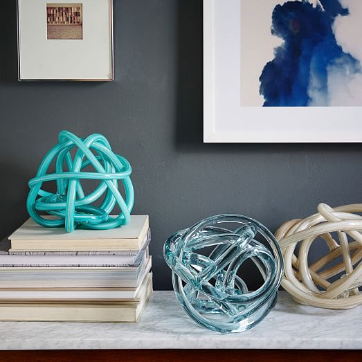 Glass Knots - Extra Large - Ice Blue