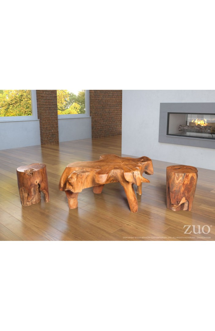 Petro Table Stool Natural & Antique Gold
