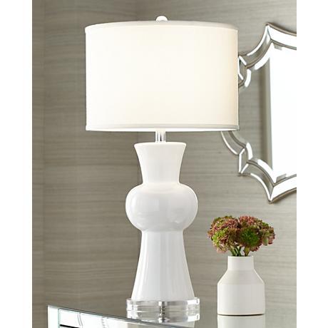 Eloise White Ceramic Table Lamp